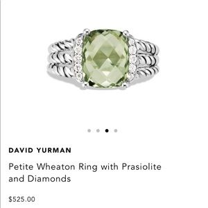 David Yurman Petite Wheaton Ring Prasiolite